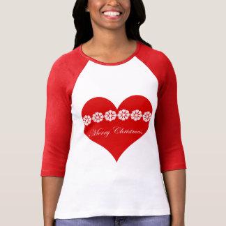 Camiseta coração do nordic do Feliz Natal