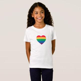 Camiseta Coração do orgulho do arco-íris