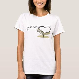 Camiseta Coração do piano