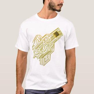 Camiseta Coração do processador central para engenheiros,