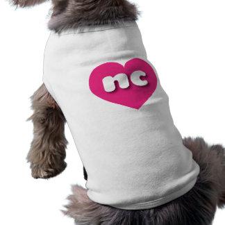 Camiseta Coração do rosa quente de North Carolina - mini
