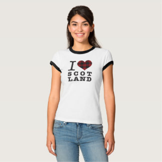 Camiseta Coração do Tartan - amor Scotland