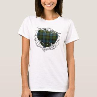 Camiseta Coração do Tartan de MacKenzie
