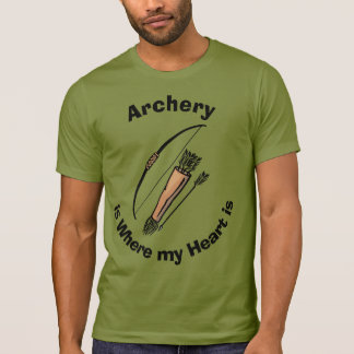Camiseta Coração do tiro ao arco @/camisa do humor caça do