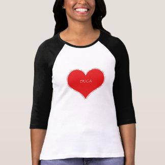 Camiseta Coração do vermelho de Erica