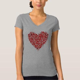 Camiseta Coração dos Camisa-Namorados das senhoras