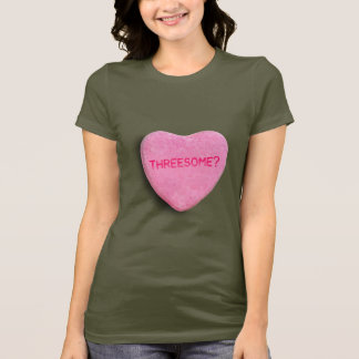 Camiseta Coração dos doces do Threesome