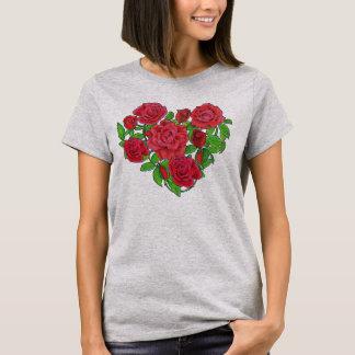 Camiseta Coração dos rosas