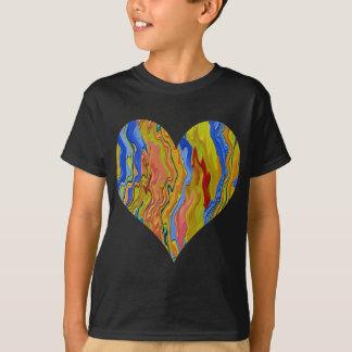 Camiseta Coração dourado - campeão do póquer