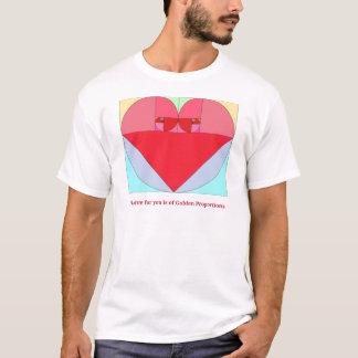 Camiseta Coração dourado da relação