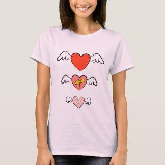 Camiseta Coração emendado