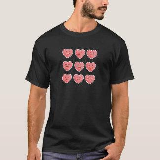 Camiseta Coração Emojis