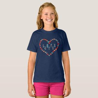 Camiseta Coração escocês do amor da independência Aye