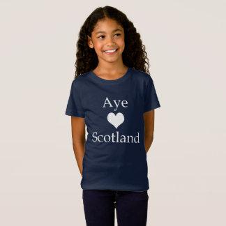 Camiseta Coração escocês Scotland da independência Aye