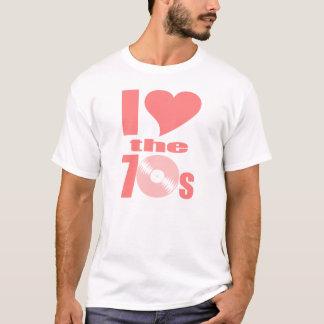 Camiseta Coração Groovy de I o t-shirt retro dos anos 70
