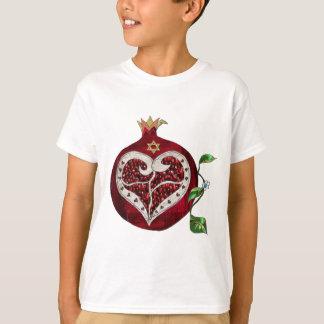 Camiseta Coração Hanukkah Rosh Hashanah da romã de Judaica