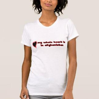 Camiseta coração inteiro Afeganistão