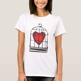 Camiseta Coração na gaiola