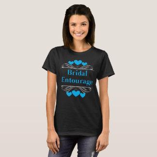 Camiseta Coração nupcial Tee~Blue do séquito
