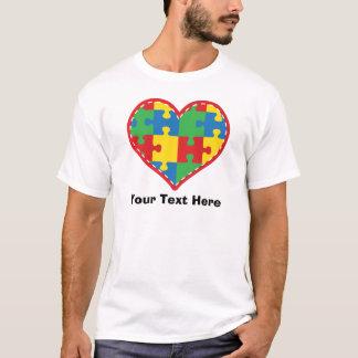 Camiseta Coração personalizado da parte do quebra-cabeça do