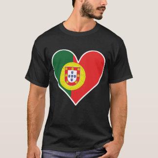 Camiseta Coração português da bandeira