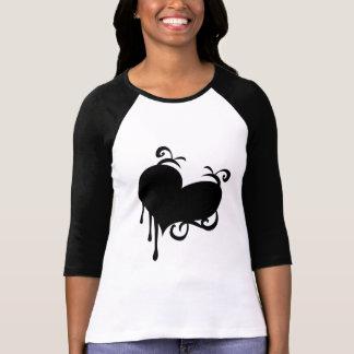 Camiseta Coração preto