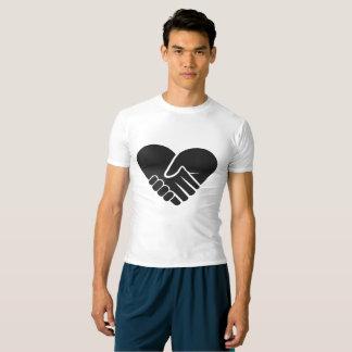 Camiseta Coração preto conectado amor
