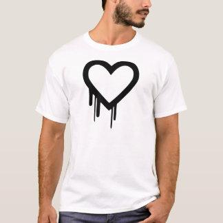 Camiseta Coração preto do gotejamento de Heartbleed