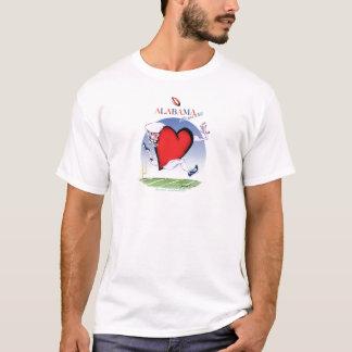 Camiseta coração principal de Alabama, fernandes tony