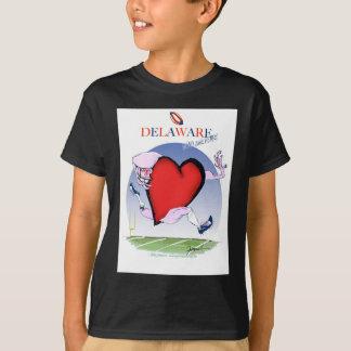 Camiseta coração principal de delaware, fernandes tony