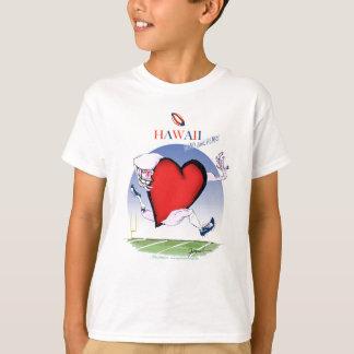 Camiseta coração principal de Havaí, fernandes tony