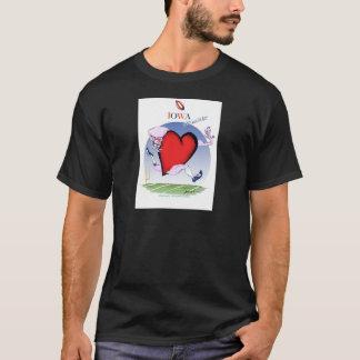 Camiseta coração principal de iowa, fernandes tony