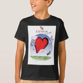 Camiseta coração principal de kansas, fernandes tony