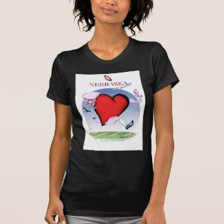 Camiseta coração principal de nebraska, fernandes tony