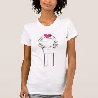 Camiseta coração-robô