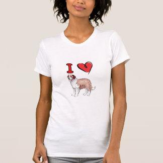 Camiseta coração St Bernard