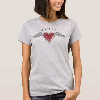 """Camiseta """"Coração &"""" t-shirt Soul-2 básico"""
