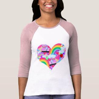 Camiseta Coração tão épico da explosão dos anos 80