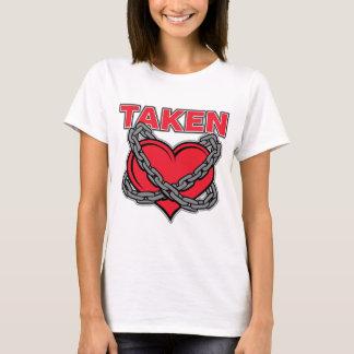 Camiseta Coração tomado acorrentado dia dos namorados