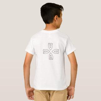 Camiseta Coração transversal da trindade