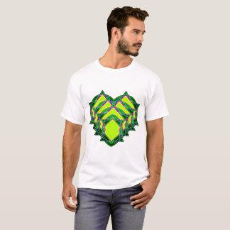 Camiseta Coração verde abstrato