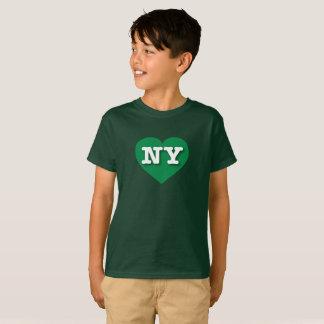 Camiseta Coração verde de New York - amor grande