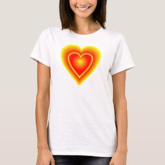 Camiseta Coração vermelho e amarelo