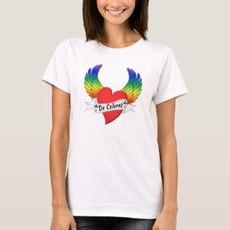 Camiseta Coração voado De Colores T-shirt