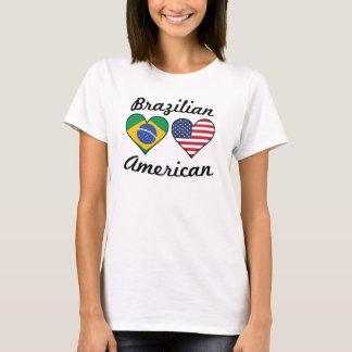 Camiseta Corações brasileiros da bandeira americana