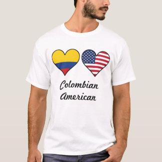 Camiseta Corações colombianos da bandeira americana