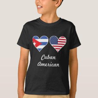 Camiseta Corações cubanos da bandeira americana