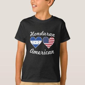 Camiseta Corações da bandeira americana do Honduran
