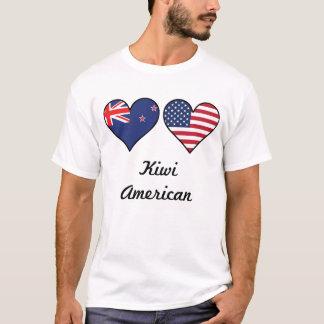 Camiseta Corações da bandeira americana do quivi