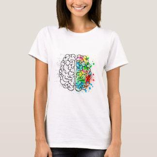 Camiseta corações da ideia da psicologia da mente do